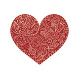 Ornamental heart on white background Royalty Free Stock Image