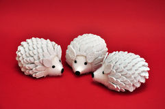 Ornamental Hedgehogs Royalty Free Stock Image