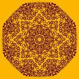 Ornamental henna mandala card. Geometric circle element in vector.  Royalty Free Stock Images