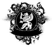 Ornamental heraldic shield Royalty Free Stock Photography