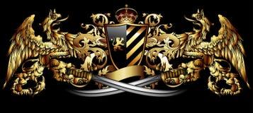 Ornamental heraldic shield Stock Photos
