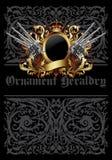 Ornamental heraldic shield Stock Image