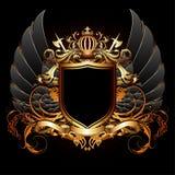 Ornamental heraldic shield. Highly realistic illustration. Royalty Free Stock Photography