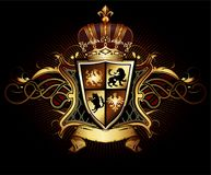 Ornamental heraldic shield. Highly realistic illustration. Stock Images