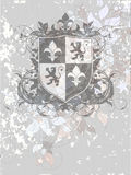 Ornamental heraldic shield Stock Photo