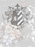 Ornamental heraldic shield Stock Photography