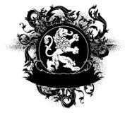 Ornamental heraldic shield Stock Photography
