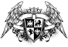 Ornamental heraldic shield Royalty Free Stock Images