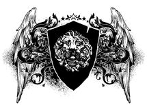 Ornamental heraldic shield Royalty Free Stock Photos