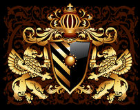 Ornamental heraldic shield Stock Photo