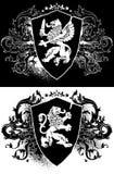Ornamental heraldic shield Stock Images