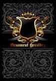 Ornamental heraldic shield Royalty Free Stock Photo