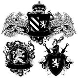 Ornamental heraldic shields Royalty Free Stock Photography