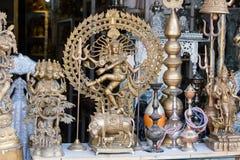 Ornamental Hindu Gods at market in Pushkar, India Royalty Free Stock Image
