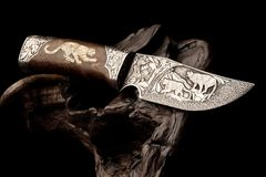 Ornamental hunting knife. Stock Images