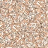 Ornamental indian pattern. Vector seamless texture for textile design Stock Photos