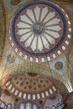 Ornamental interior of the Blue Mosque Royalty Free Stock Photo
