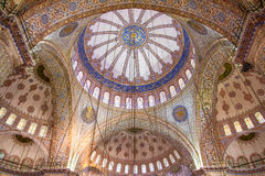 Ornamental interior of the Blue Mosque Stock Images