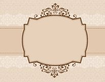 Ornamental invitation background. Elegant wedding invitation/ anniversary background / frame design with swirls. can be use as wedding , anniversary, valentines Stock Photo