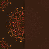 Ornamental invitation card design Royalty Free Stock Image