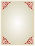 Ornamental invitation frame Royalty Free Stock Image