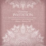 Ornamental invitation silver and pastel colors Stock Image
