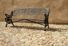 Ornamental iron bench Stock Photography