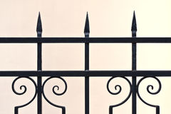 Ornamental iron fence Royalty Free Stock Photos