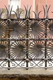 Ornamental iron fence Royalty Free Stock Photo