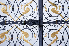 Ornamental iron gate Royalty Free Stock Photos
