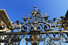 Ornamental ironwork fencing of gardens of the Prague Castle, Prague, Czech Republic Stock Images