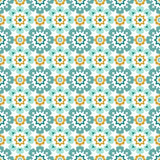 Ornamental islamic tile seamless pattern. Ornamental colorful islamic tile vector seamless pattern Royalty Free Stock Photo