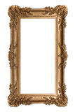Ornamental Isolated Vertical Frame on Whit Royalty Free Stock Image