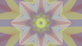 Ornamental kaleidoscope moving shape pattern animation background seamless loop New quality retro vintage holiday shape. Ornamental geometric caleidoscope star stock footage