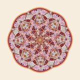 Ornamental kaleidoscopic mandala Royalty Free Stock Photo