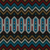 Ornamental knitted pattern Stock Image