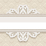 Ornamental lace background Stock Photo