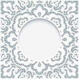 Ornamental lace frame royalty free illustration