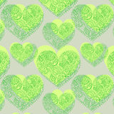 Ornamental lace hearts seamless pattern Stock Photography