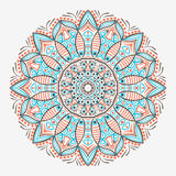 Ornamental lace pattern, circle background with many details, looks like crocheting handmade lace, seamless texture Stock Images