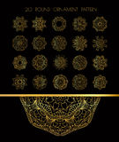 Ornamental lace pattern for wedding invitations and greeting cards. Stock Image