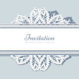 Ornamental lace snowflake background Stock Photo