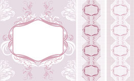 Ornamental lacy borders for design Stock Photos