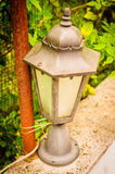 Ornamental Lamp On Village House Garden Royalty Free Stock Images