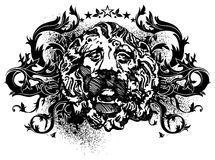 Ornamental lbackground with lion Stock Photos