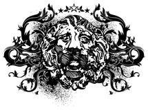 Ornamental lbackground with lion Stock Photos