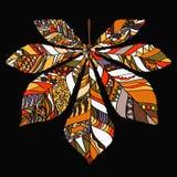 Ornamental leaf chestnut - vector silhouette Stock Photography