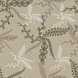 Ornamental leaves seamless pattern. Orient traditional ornament. Royalty Free Stock Photography