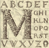 Ornamental letter alphabet Royalty Free Stock Image