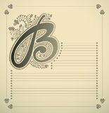 Ornamental letter - B Stock Photos
